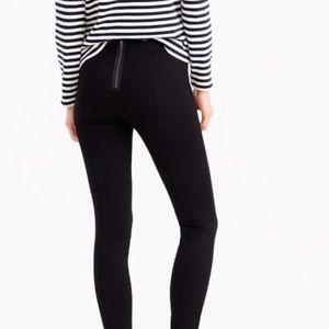 J. Crew Pixie Skinny Legging w/ Exposed Zipper